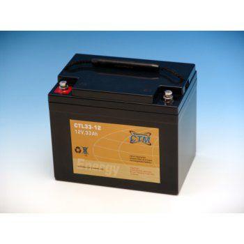 Olověný akumulátor CTM 12V 33Ah závit M6 CTL CTM Components GmbH, Německo