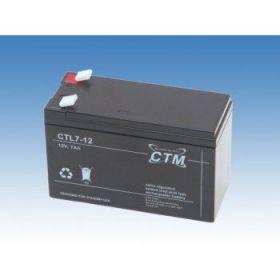 Olověný akumulátor CTM 12V 7Ah faston F2-6,3mm CTL