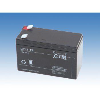 Olověný akumulátor CTM 12V 7Ah faston F2-6,3mm CTL CTM Components GmbH, Německo