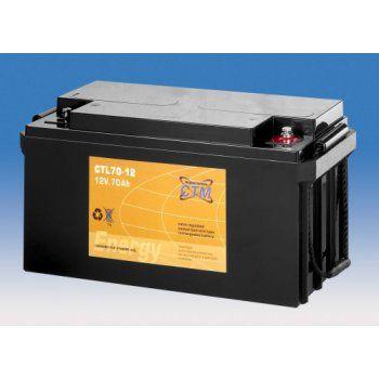 Olověný akumulátor CTM 12V 70Ah závit M6 CTL CTM Components GmbH, Německo