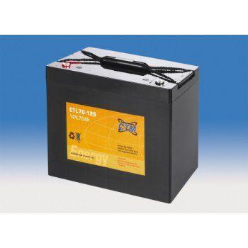 Olověný akumulátor CTM 12V 70Ah závit M6 CTL S CTM Components GmbH, Německo
