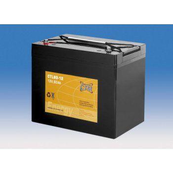 Olověný akumulátor CTM 12V 80Ah závit M6 CTL CTM Components GmbH, Německo