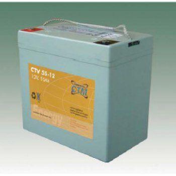 Olověný akumulátor CTM 12V 55Ah závit M6 CTM Components GmbH, Německo