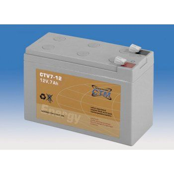 Olověný akumulátor CTM 12V 7Ah faston F2-6,3mm CTV CTM Components GmbH, Německo