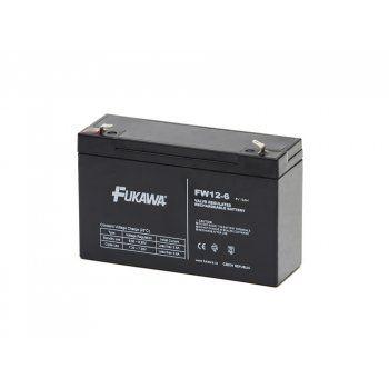 Olověný akumulátor Fukawa 6V 12Ah faston F1-4,7mm