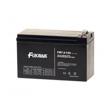 Olověný akumulátor Fukawa 12V 7,2Ah faston F2-6,3mm