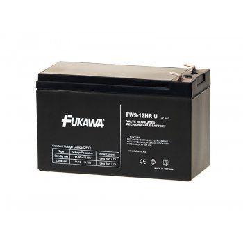 Olověný akumulátor Fukawa 12V 9Ah faston F2-6,3mm HRU