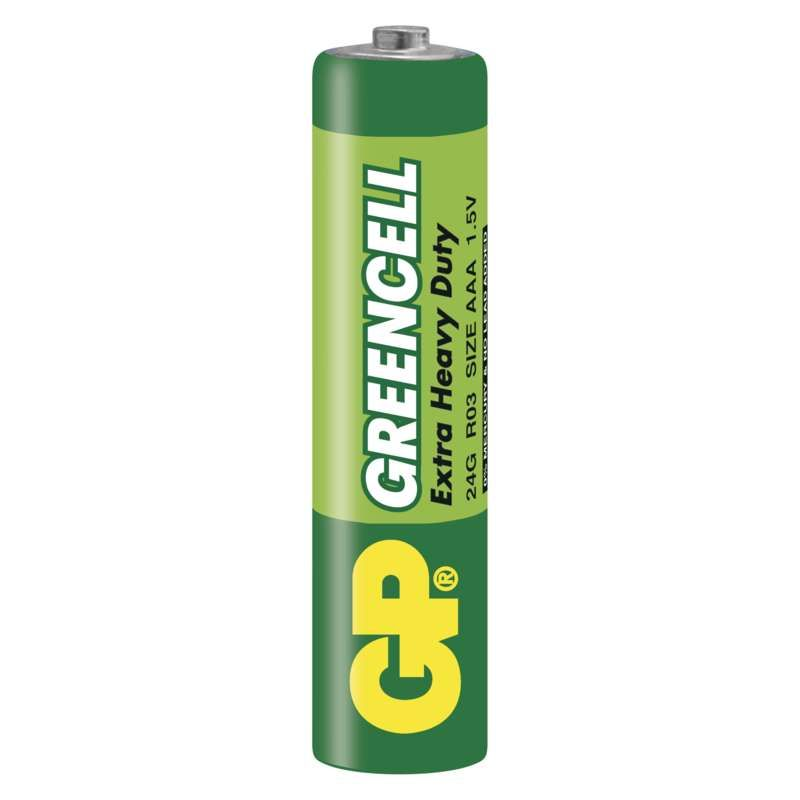Zinkochloridová baterie GP Greencell R03 (AAA)