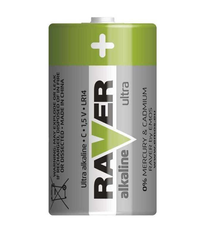Alkalická baterie RAVER LR14 (C) GP