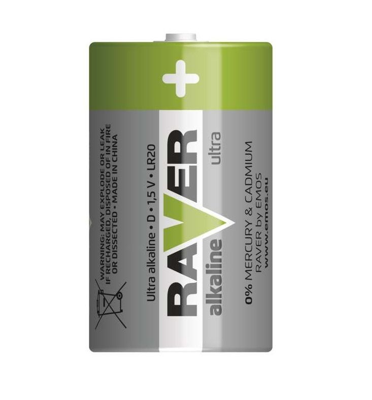 Alkalická baterie RAVER LR20 (D) GP