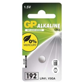 Alkalická knoflíková baterie GP LR41 (192F) - blister