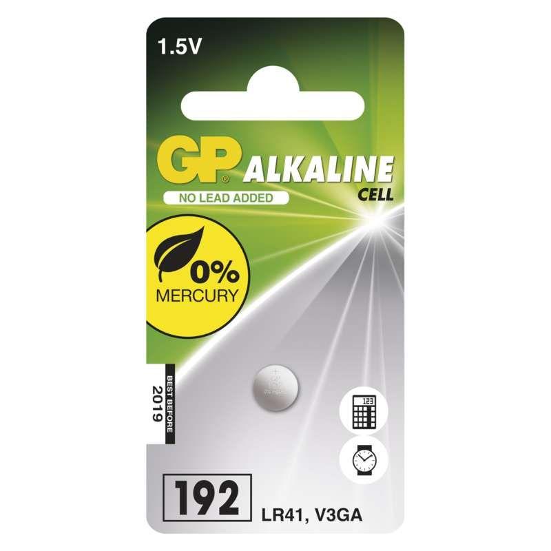 Alkalická knoflíková baterie GP LR41 (192F)