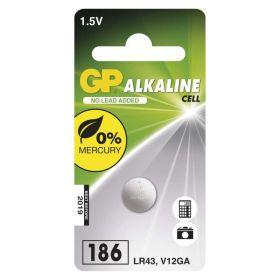 Alkalická knoflíková baterie GP LR43 (186F) - blister