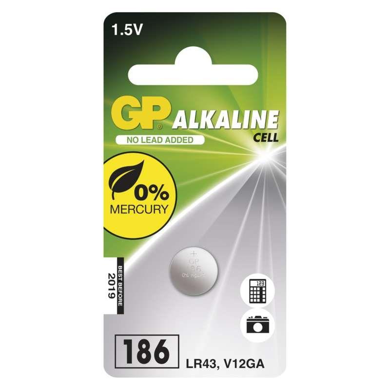 Alkalická knoflíková baterie GP LR43 (186F)