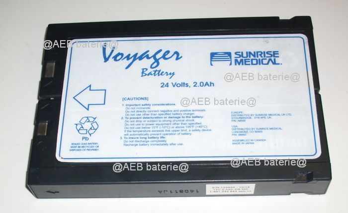 Baterie BHM Medical Voyager Portable Track Lift A8500 AEB