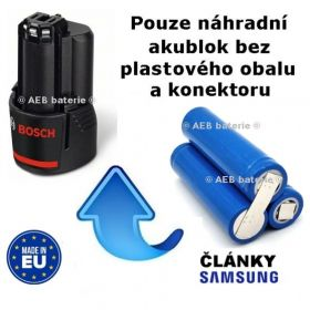 Baterie Bosch 2607336013 - 10,8V Li 2000mAh KIT Samsung