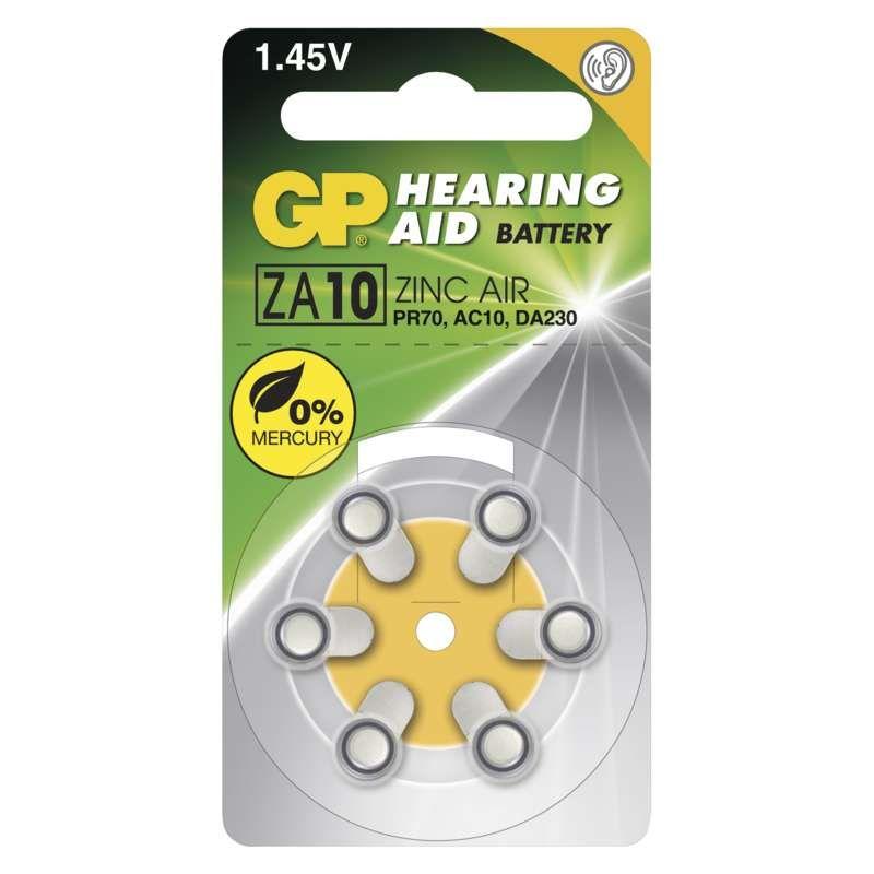 Baterie do naslouchadel GP ZA10 (PR70)