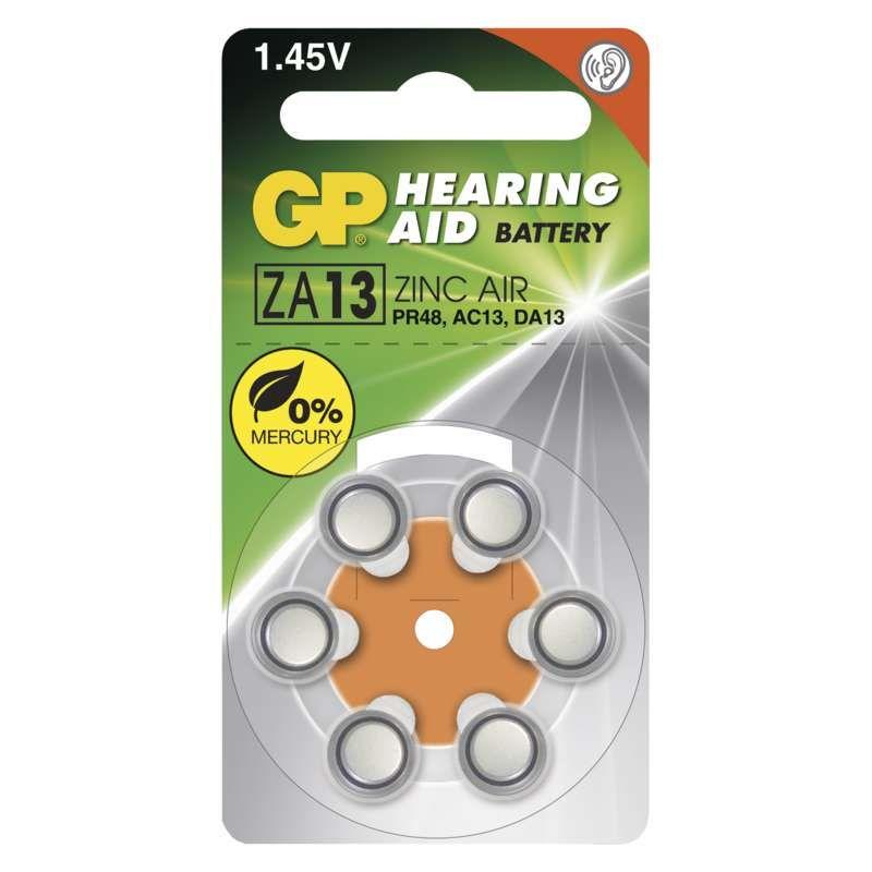 Baterie do naslouchadel GP ZA13 (PR48)