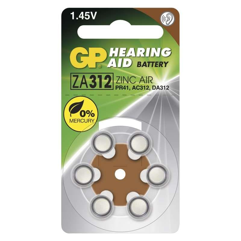 Baterie do naslouchadel GP ZA312 (PR41)