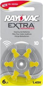 Baterie do naslouchadel ZA10 Rayovac Extra Advanced 6ks