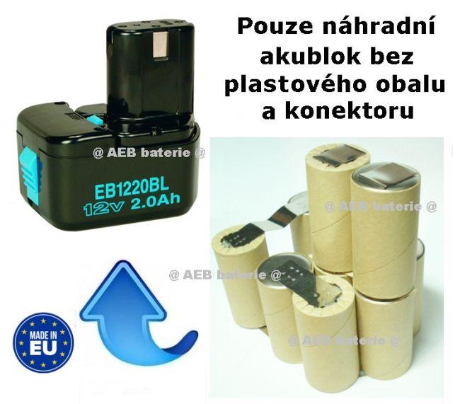 Baterie Hitachi EB1214S Ni-MH 12V 3000mAh - KIT AEB