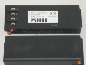Baterie Nano, Hiab 2.260.1020 - 7,2V 2000mAh