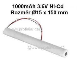 Baterie pro nouzová světla Ni-Cd 3,6V 1000mAh L1x3S