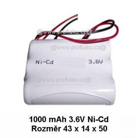 Baterie pro nouzová světla Ni-Cd 3,6V 1000mAh