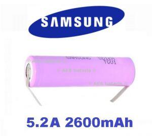 Baterie Samsung ICR18650-26J Li-Ion 2600mAh vývody U