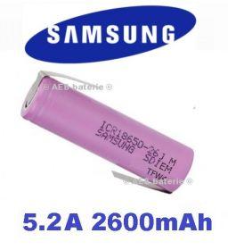 Baterie Samsung ICR18650-26J Li-Ion 2600mAh vývody Z