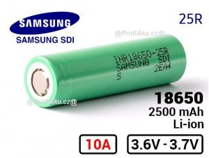 Baterie Samsung INR 18650-25R 2500 mAh
