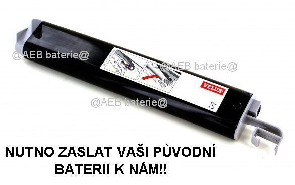 Baterie Velux model 833442 - 4,8V Ni-MH 3800mAh Panasonic Panasonic - AEB