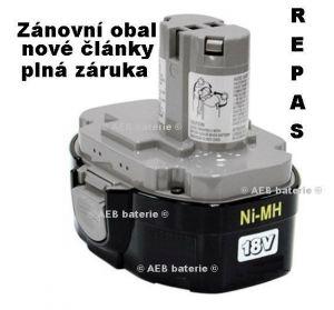 kopie Baterie Makita 1834 Ni-MH 18V 3000mAh - repas