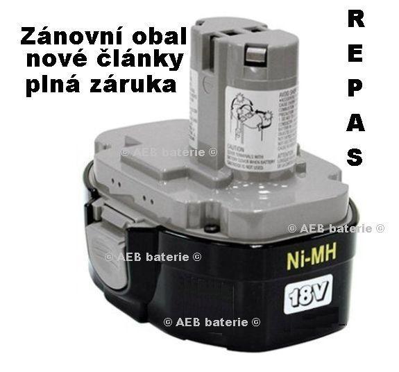 Baterie Makita 1834 Ni-MH 18V 3000mAh - repas