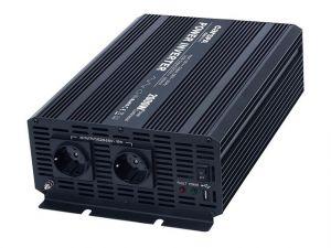Měnič napětí Carspa CAR2KU-12 12V/230V+USB 2000W, modifikovaná sinus