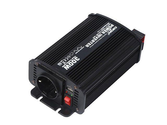 Měnič napětí Carspa CAR300U-12 12V/230V+USB 300W, modifikovaná sinus