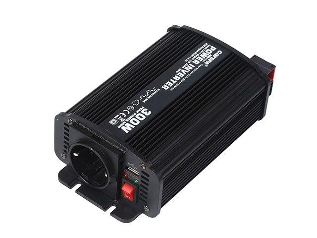 Měnič napětí Carspa CAR300U-24 24V/230V+USB 300W, modifikovaná sinus