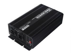 Měnič napětí Carspa CAR3KU-12 12V/230V+USB 3000W, modifikovaná sinus