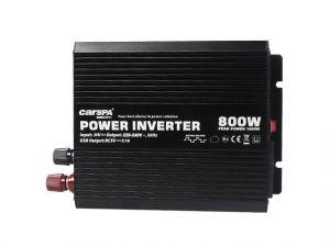 Měnič napětí Carspa CAR800U-122 12V/230V+USB 800W, modifikovaná sinus (náhrada za CAR700)