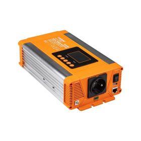 Měnič napětí Carspa PX500-24, 24V/230V+USB 500W čistá sinusovka