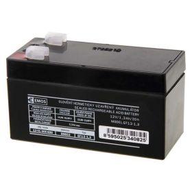 Olověný akumulátor 12 V/1,3 Ah, faston 4,7 mm