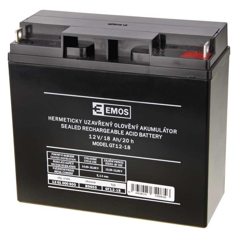 Olověný akumulátor 12 V/18 Ah EMOS