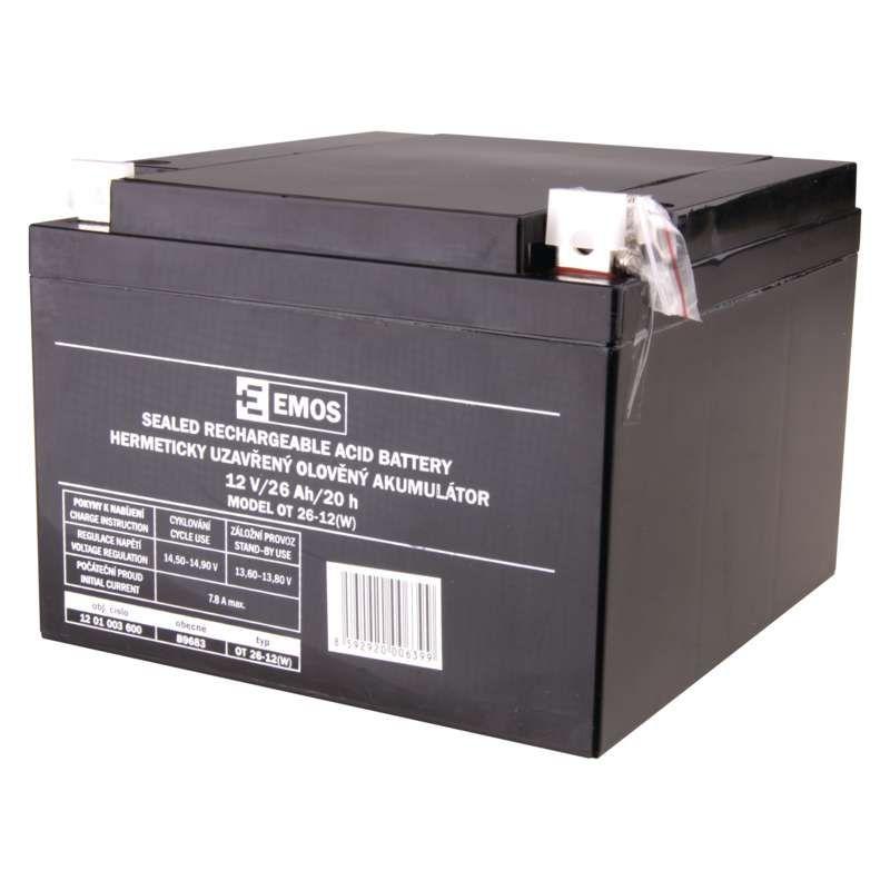 Olověný akumulátor 12 V/26 Ah L2 EMOS