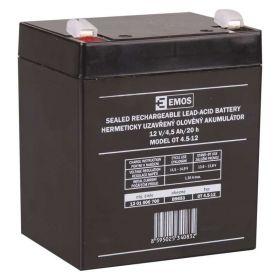 Olověný akumulátor 12 V/4,5 Ah, faston 4,7 mm