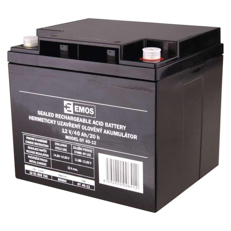 Olověný akumulátor 12 V/40 Ah M6 EMOS