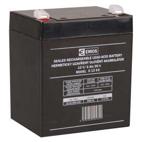 Olověný akumulátor 12 V/5Ah, faston 6,3 mm