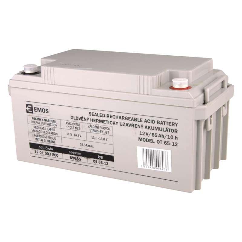 Olověný akumulátor 12 V/65 Ah M8 EMOS