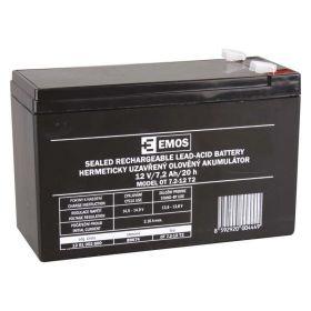 Olověný akumulátor 12 V/7,2 Ah, faston 6,3 mm