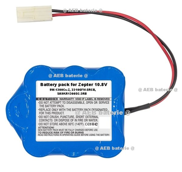 Baterie pro vysavač ZEPTER LMG-310, 9P-1300SCS, 10,8V - 3000 mAh P Panasonic - AEB