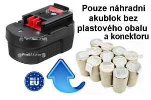 Baterie Black & Decker A14E 14,4V 1700 mAh NiCd - KIT Panasonic
